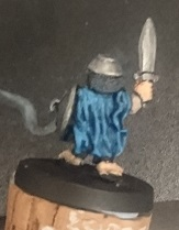 Essex Miniatures 28mm halfling swordsman back